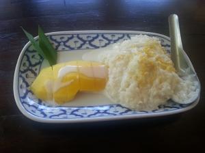 """Mango con """"sticky rice"""""""