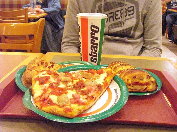 Slice de pizza en Sbarro